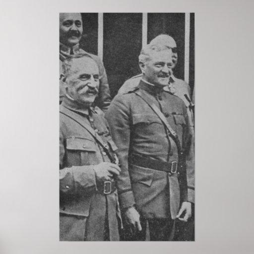 Foch y Pershing Póster