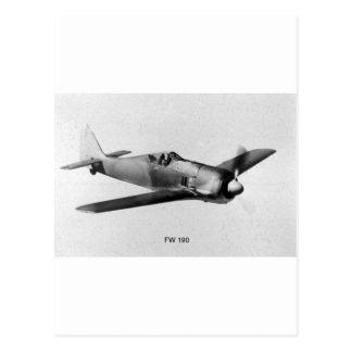Focke Wulf FW190-3 Tarjeta Postal