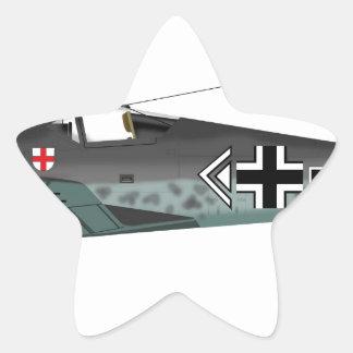 Focke-Wulf FW-190 Pegatina En Forma De Estrella