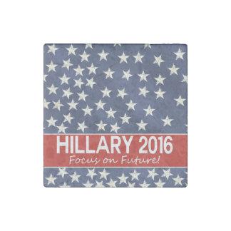 Foco de Hillary el futuro Imán De Piedra