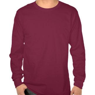 Foco de la BLANCO: Las mangas llenas de los hombre Camisetas