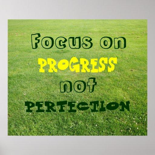 Foco en el progreso, no perfección poster