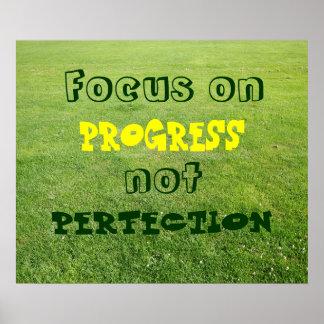 Foco en el progreso, no perfección póster