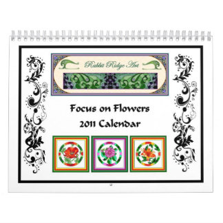 Foco en las flores - calendario 2011
