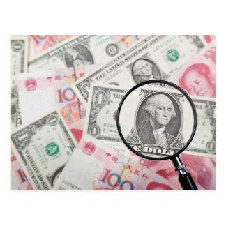 Foco en moneda de los E.E.U.U. Postal