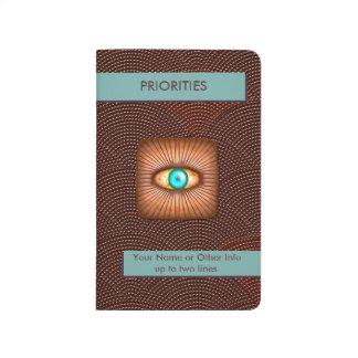 Foco en prioridades - ojo de cobre (personalizado) cuaderno grapado