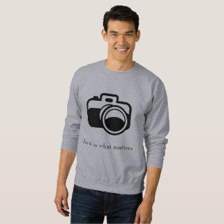 Foco en qué materias con la cámara suéter