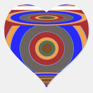 FOCO en su BLANCO: Añada una cierta imagen del Pegatina En Forma De Corazón