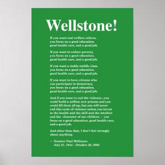 Foco en una buena educación… Wellstone Poster