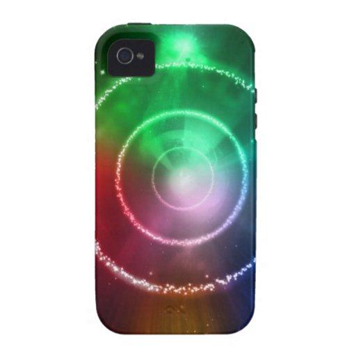 Foco ligero azulverde rojo abstracto iPhone 4/4S fundas