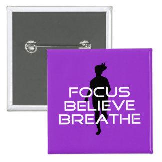 Focu Believe Breathe 2 Inch Square Button