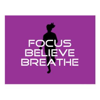 Focu Believe Breathe Postcard