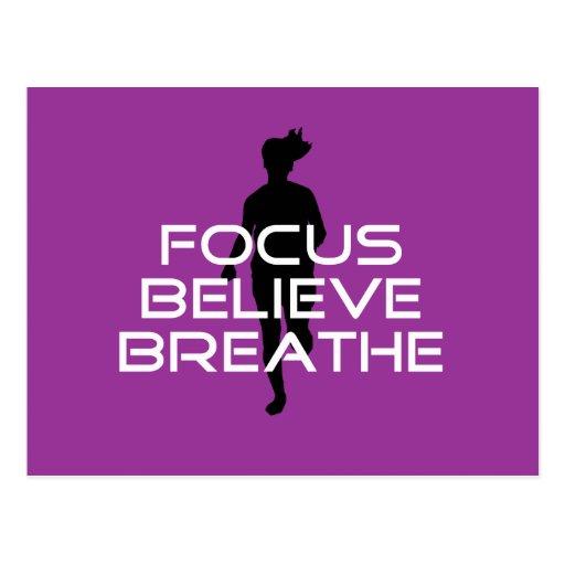 Focu Believe Breathe Post Card
