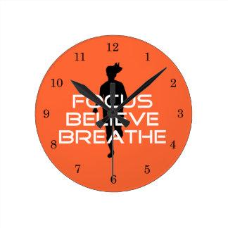 Focu Believe Breathe Round Clock