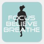 Focu Believe Breathe Square Sticker