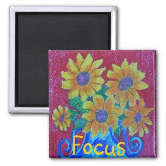 Focus 2 Inch Square Magnet