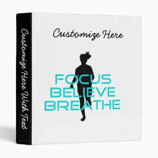 Focus Believe Breathe Aqua 3 Ring Binders