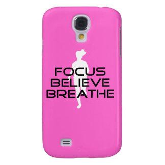 Focus Believe Breathe Female Runner Galaxy S4 Cover