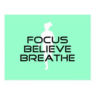 Focus Believe Breathe Postcard