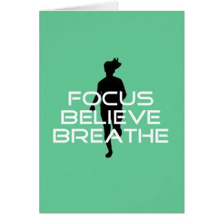 Focus Believe Breathe Running Card
