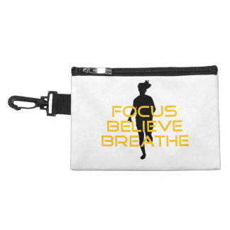 Focus Believe Breathe Yellow Running Fitness Accessory Bag