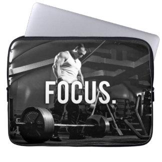 "FOCUS - ""Body building"" Workout Motivational Laptop Computer Sleeves"