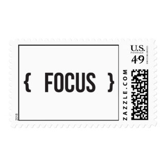 Focus - Bracketed - Black and White Stamp
