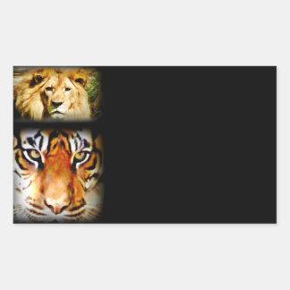 Focus & Courage_ Rectangular Stickers