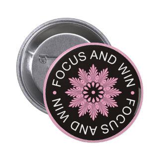 ~Focus de 3 citas de la palabra y ~motivational Pin Redondo De 2 Pulgadas