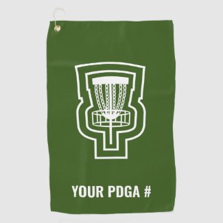 Focus Disc Golf Towel with PDGA #
