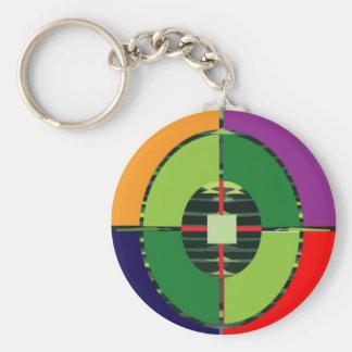 FOCUS Green Target EARTH  Global Warming NVN255 Basic Round Button Keychain