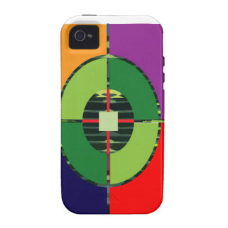 FOCUS Green Target EARTH  Global Warming NVN255 Case-Mate iPhone 4 Covers