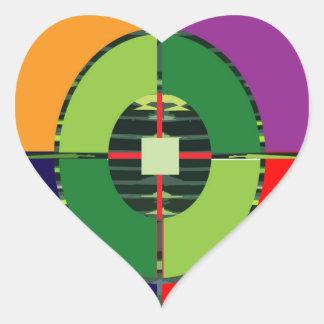 FOCUS Green Target EARTH  Global Warming NVN255 Heart Sticker