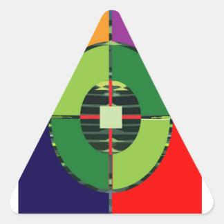 FOCUS Green Target EARTH  Global Warming NVN255 Triangle Sticker