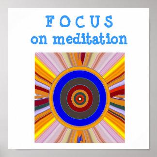 FOCUS : Meditation tool Color WHEEL Poster