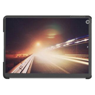 Focus of headlight on highway iPad air cover