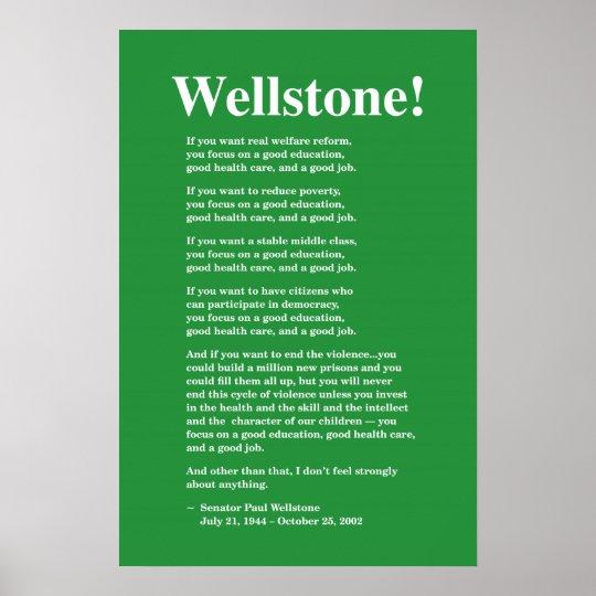 focus on a good education wellstone 16x24 poster zazzle com