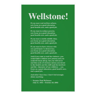 Focus on a good education, Wellstone 22x36 Poster