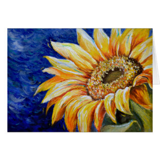 Focus on Faith, Not Pain Sunflower Stationery Note Card