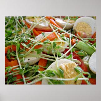 Focus on salad print