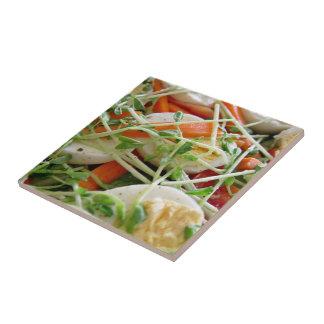 Focus on salad tile