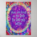 'Focus on the Good' Inspirivity Poster