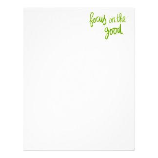 Focus on the good positive advice attitude motivat letterhead