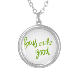 Focus on the good positive advice attitude motivat personalized necklace