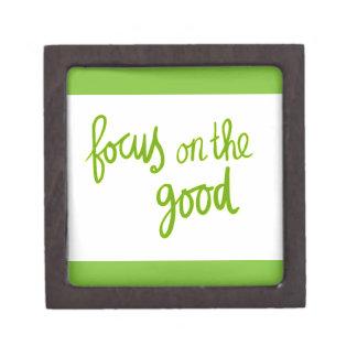 Focus on the good positive advice attitude motivat premium jewelry box