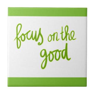 Focus on the good positive advice attitude motivat tiles