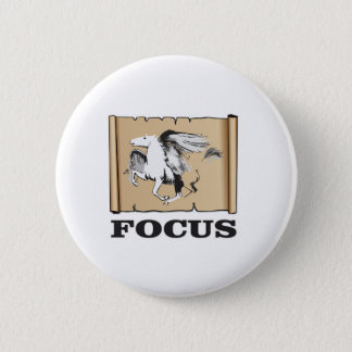focus on the horse pinback button
