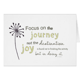 focus on the journey card
