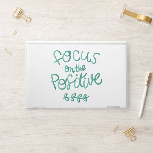 Focus on the Positive HP Laptop Skin