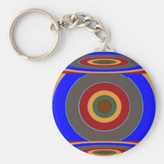 FOCUS on your TARGET : Add some text image Basic Round Button Keychain